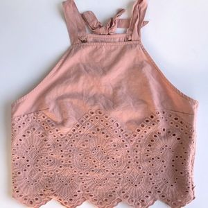 COPY - Abercrombie & Fitch eyelet pink crop top m…